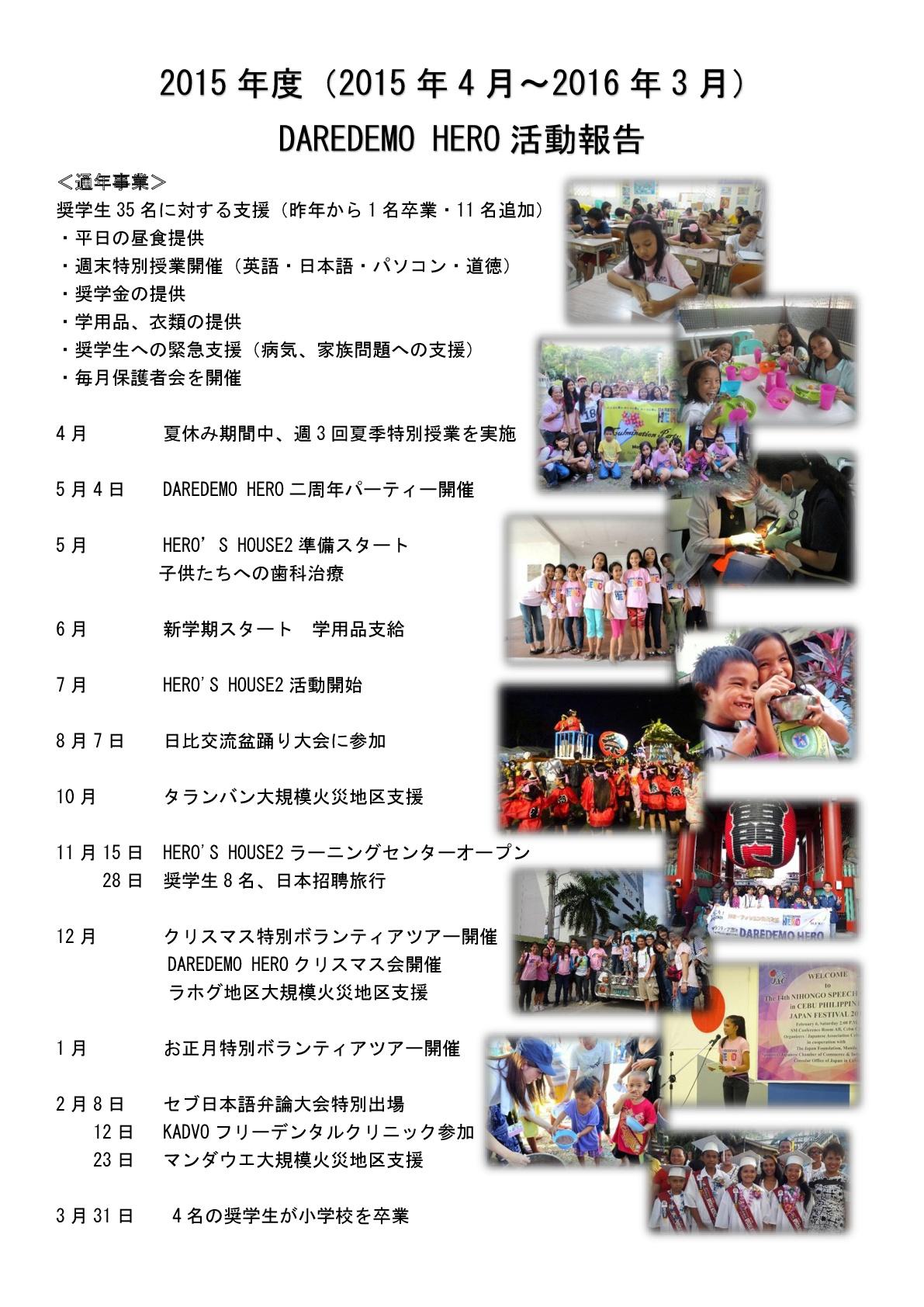 2015年度活動報告