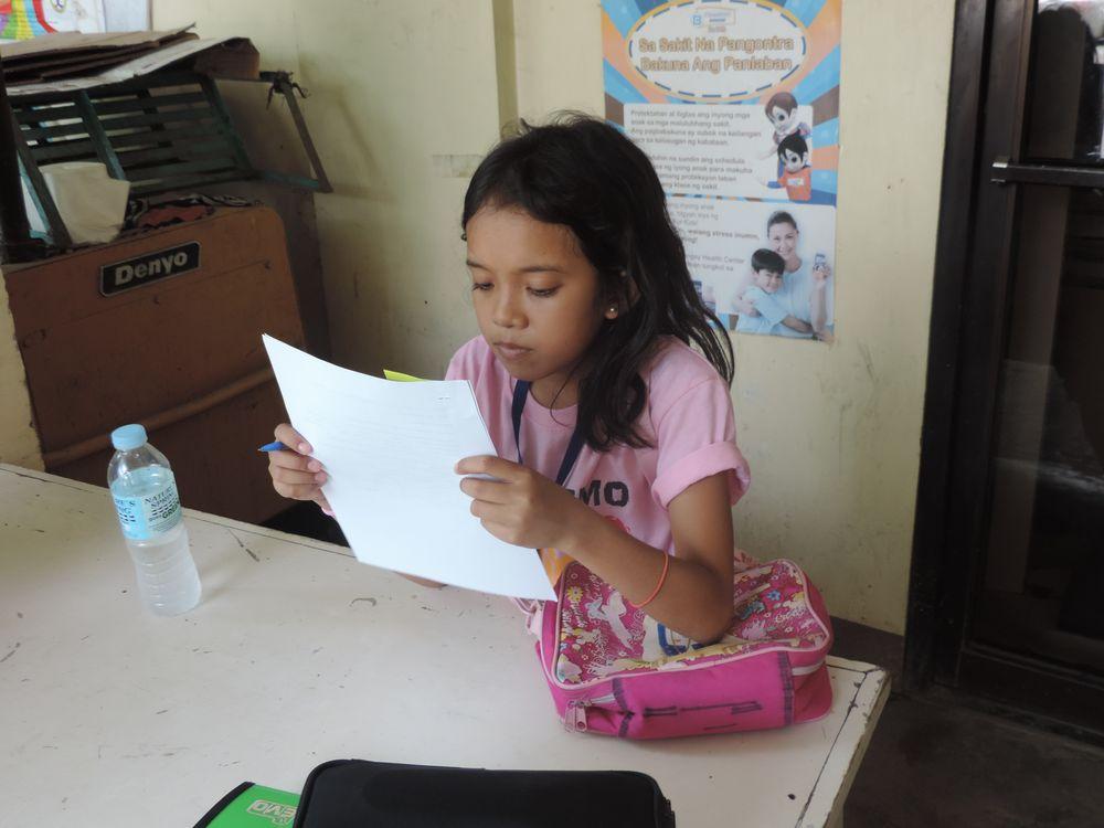 Lea studying