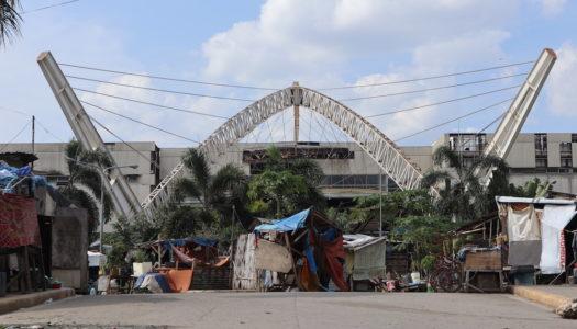 避難場所にできた貧困地区